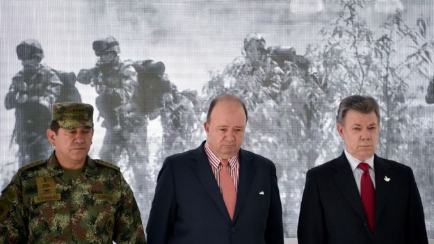 Santos, Villegas y militares