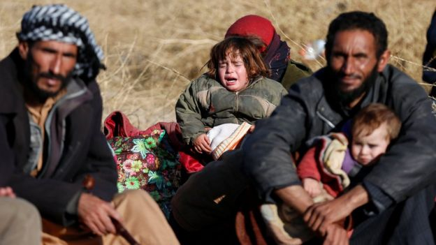 Displaced Iraqis east of Mosul (27 December 2016)