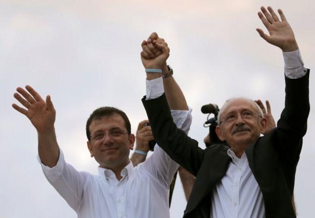 İstanbul Büyükşehir Belediye Başkanı Ekrem İmamoğlu ve CHP Genel Başkanı Kemal Kılıçdaroğlu