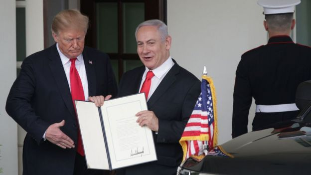 Trump and Netanyahu.