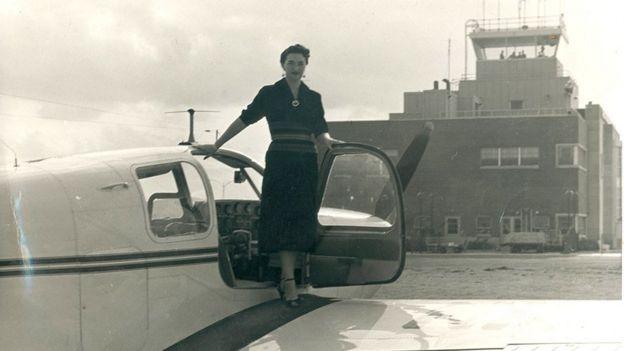 b4b58bae62320 Foto cortesía del Museo Nacional Aeronáutico y del Espacio de Chile. Image  caption Foto de Margot Duhalde ...