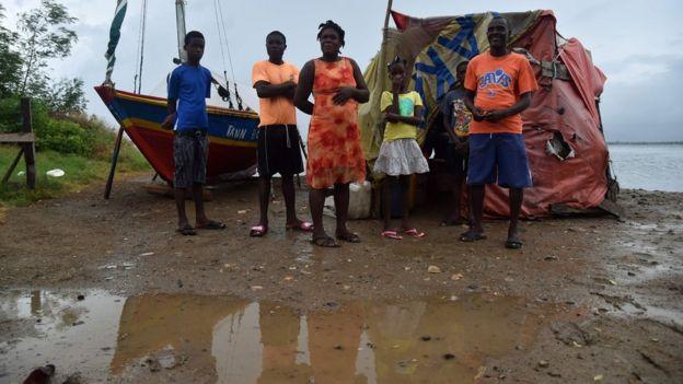 Afectados por el huracán Irma en Haití.