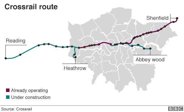 Crossrail Delay New London Line Will Open In Autumn 2019 Bbc News