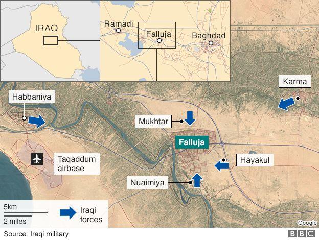 Iraq troops in 'final assault' on Islamic State in Falluja - BBC News