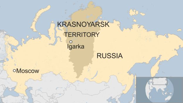 Where Is Siberia On A World Map.Russian Helicopter Crash Kills 18 In Siberia Bbc News