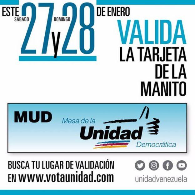 Publicidad de la MUD.