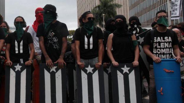 Protesta de puertorriqueños
