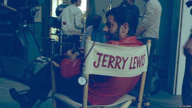 Jerry Lewis no set