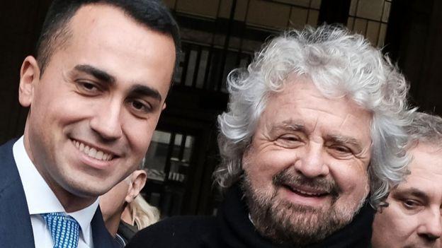 Di Maio y Grillo