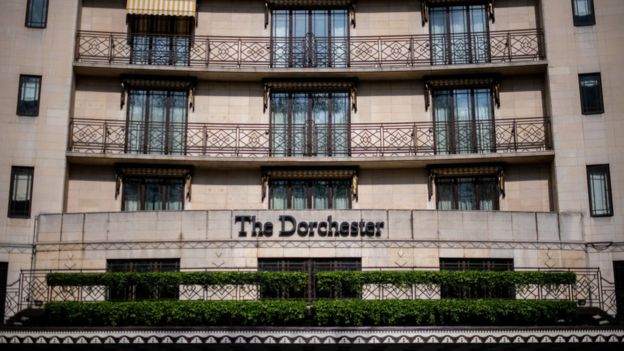 The Dorchester hotel in London is part of a chain of luxury establishments owned by the Sultan of Brunei.