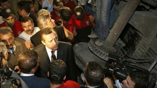 Kaza alanını dönemin başbakanı Recep Tayyip Erdoğan da ziyaret etmişti