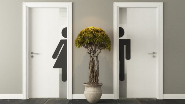 Portas de banheiros
