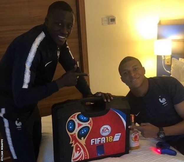 Mendy and Kylian Mbappe