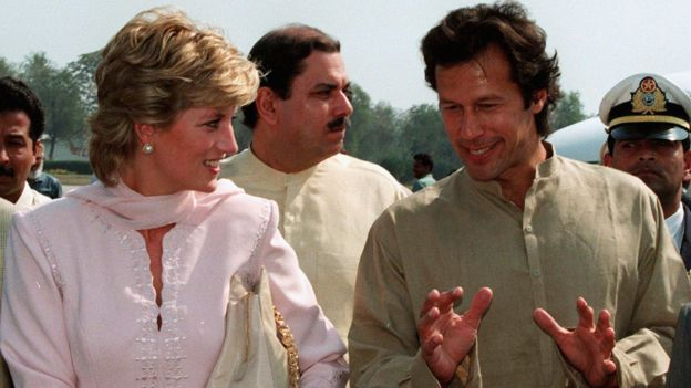 Imran Khan y la princesa Diana