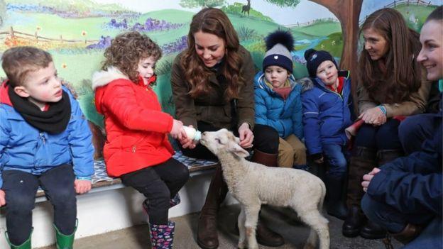 Duchess of Cambridge on visit to farm