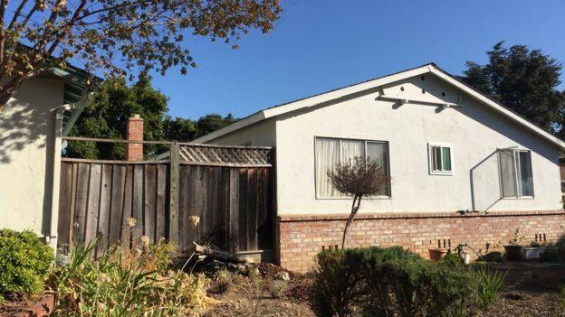 Casa en el barrio de los pájaros, cerca de la sede de Apple en Cupertino, California (Foto: Beatriz Díez)