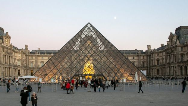 Louvre view, file pic