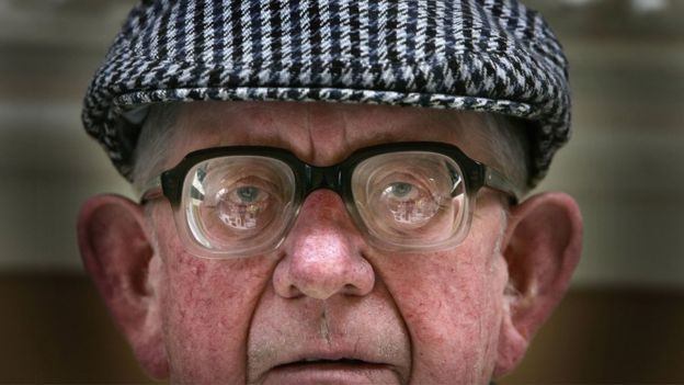 Senior citizen Dougie Pollock attends a seniors event in Blackpool Winter Gardens on May 18, 2006 in Blackpool, England.