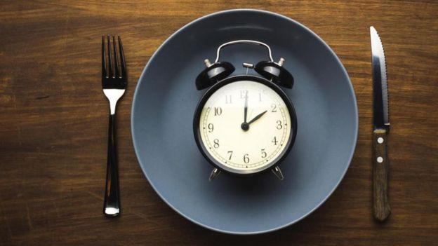 Imagem ilustrativa de um relógio num prato