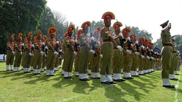 শ্রীনগরে স্বাধীনতা দিবসের অনুষ্ঠানে বিএসএফের অংশগ্রহণ