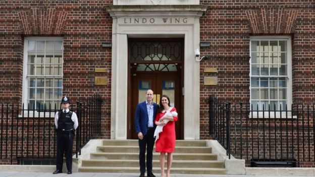 The Duke and Duchess of Cambridge leave the Lindo Wing with their new son