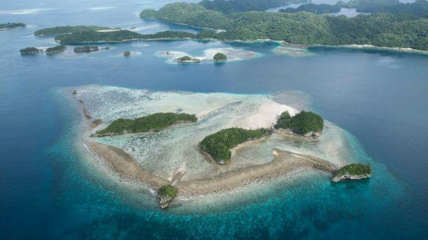Las islas Roca de Palaos