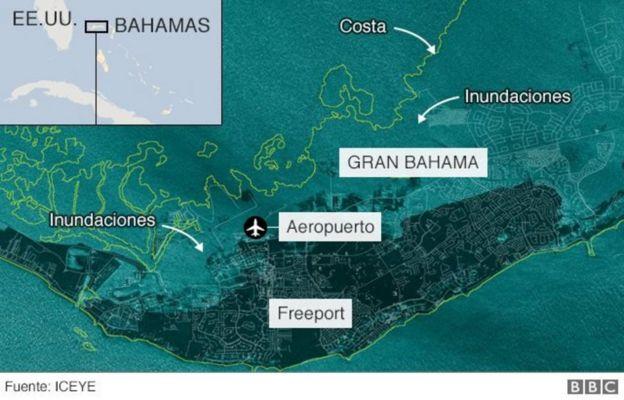 Inundaciones en Gran Bahama.