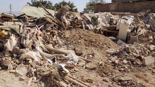 تخریب آلونکهای بلوچهای پاکستانی