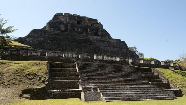 Templo maya Xunantunich, en Belice.