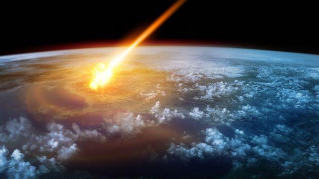 Imagen de un meteoro entrando a la atmósfera de un planeta (foto ilustrativa)
