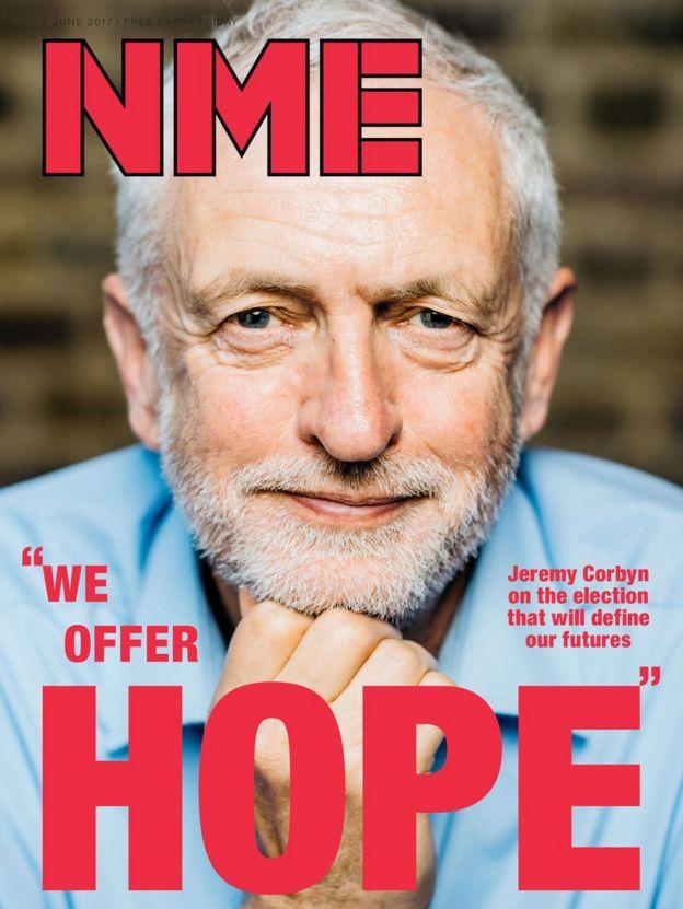 Jeremy Corbyn's NME cover