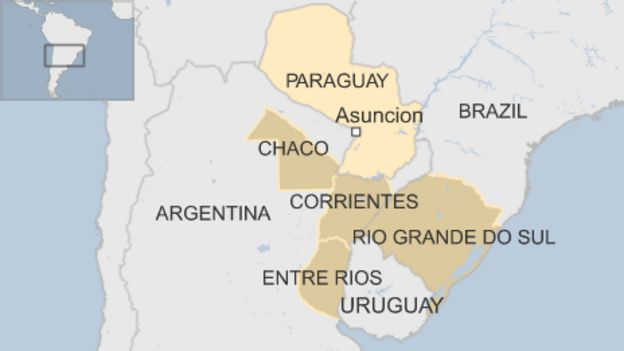 Paraguay Argentina Brazil And Uruguay Flooding Displaces - Where is asuncion
