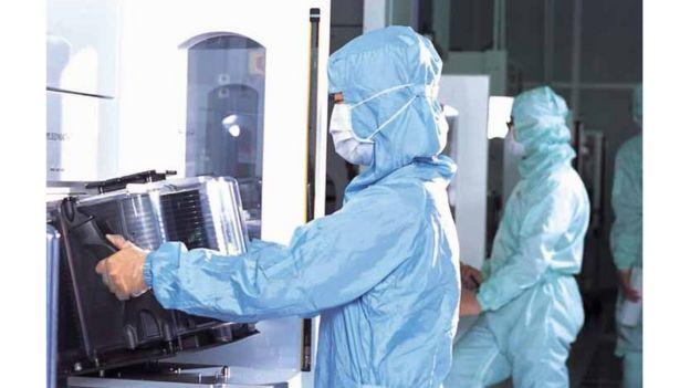Fábrica de TSMC en Taiwán.