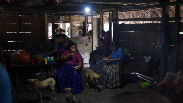 Mulheres indígenas na Guatemala.