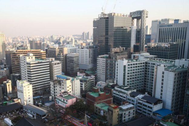 Edificios en Corea del Sur.