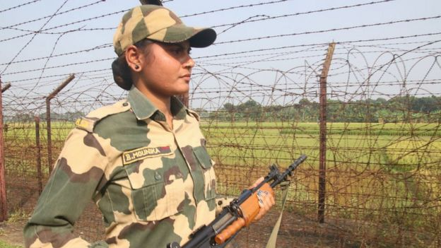 Border patrol in West Bengal near Kolkata