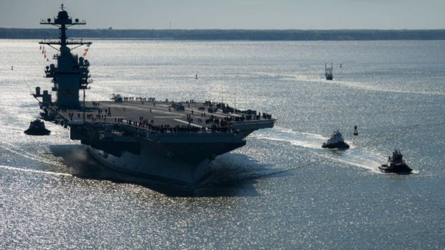El USS Gerald R Ford