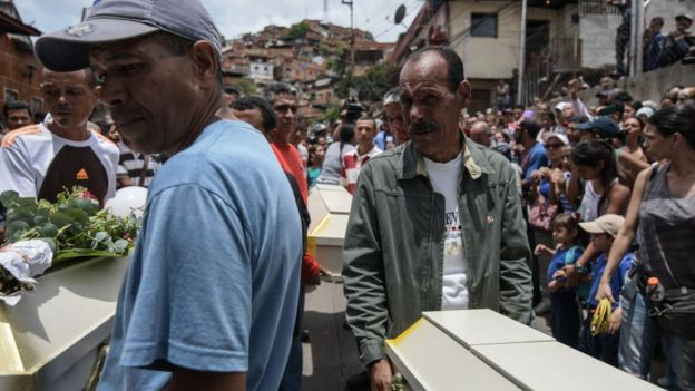 Entierro en Venezuela