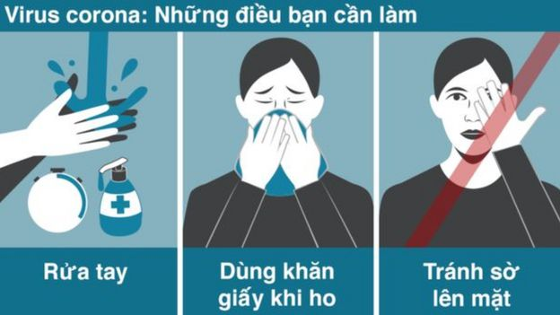 Rửa tay, rửa tay và rửa tay. Không dùng tay chạm vào mặt.