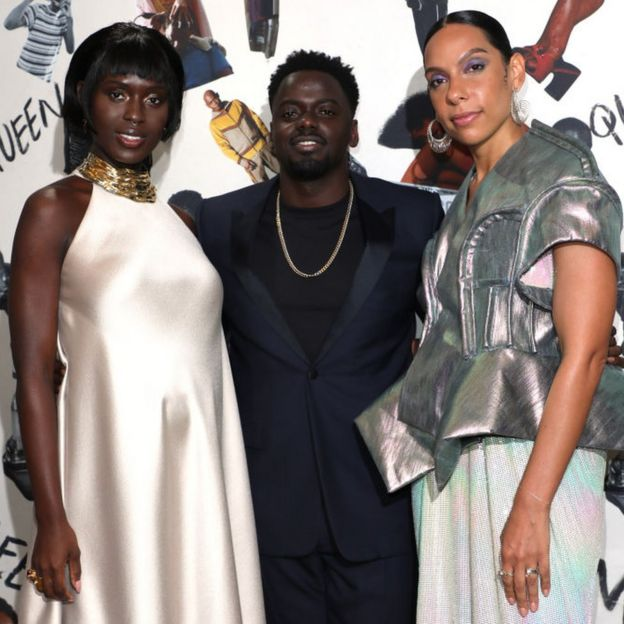 Jodie Turner-Smith, Daniel Kaluuya and Melina Matsoukas at the UK premiere of Queen & Slim