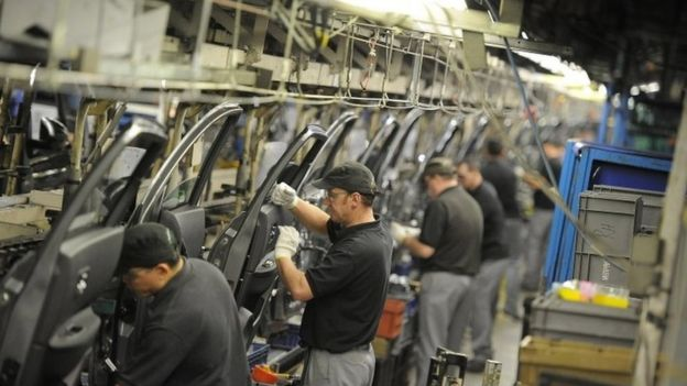 Nissan car workers in Sunderland