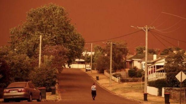آتش سوزی در گیپسلند در ایالت ویکتوریا
