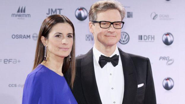 Colin Firth và vợ