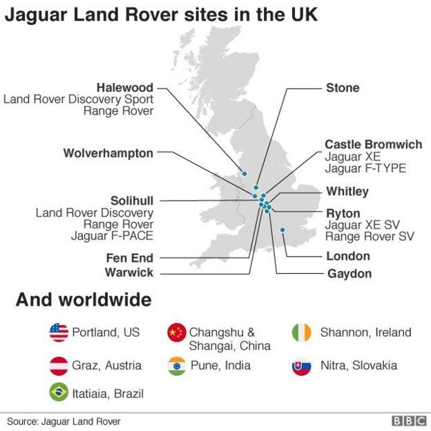 Jaguar Land Rover Confirms 4 500 Job Cuts Bbc News