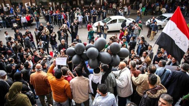 متظاهرين في مصر