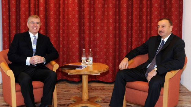 Принц Ендрю і президент Азербайджану