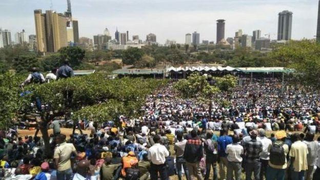Bustani ya uwanja wa Uhuru Park ipo katikati ya jiji la Nairobi