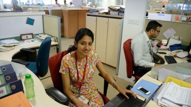 Trabajadores de tecnología en India