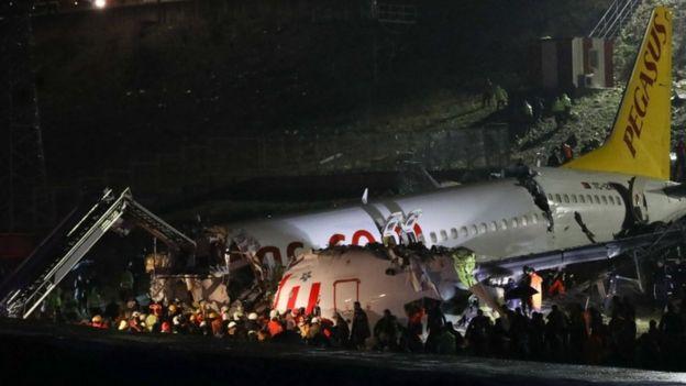 The Pegasus Airlines jet at Sabiha Gokcen airport