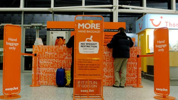 Easyjet baggage drop area